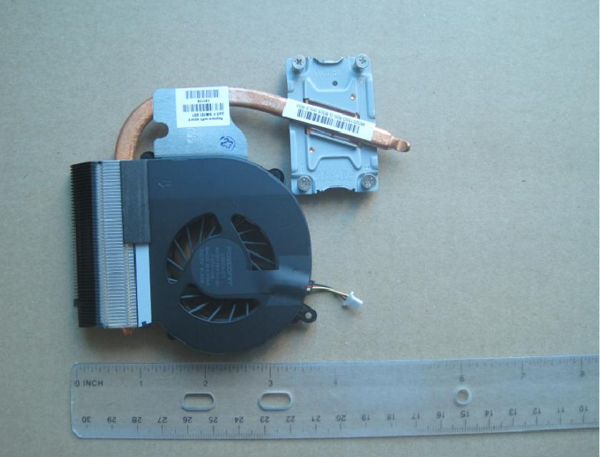 Heat sink with fan - For use in models equipped with an Intel Pentium processor and a graphics subsystem with UMA video memory - Includes replacement thermal material