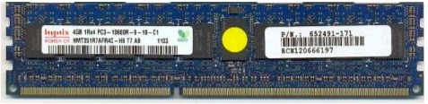 4GB PC3-10600R registered synchronous dynamic random access memory (SDRAM) dual data rate (DDR3) mode dual in-line memory module (DIMM) 512Mx72