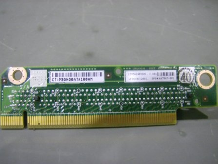 PCIe riser board - x16 slot full height half length