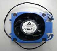 Front system (PCI boards) fan assembly - 80mm (3.14 inch) x 80mm (3.14 inch) x 38mm (1.5 inch) - Includes the fan blue retainer carrier and cable assembly