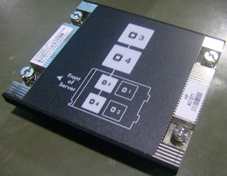 Heatsink - For processor 3 and 4