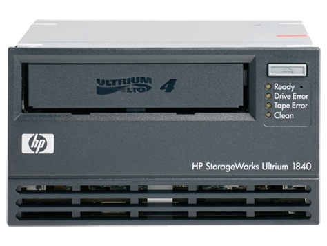Ultrium 1840 LTO-4 full height LFF internal Ultra320 LVD SCSI tape drive - 1.6TB compressed capacity 864GB/hr compressed transfer rates Linear Tape File System (LTFS) and AES 256-bit hardware encryption (Option EH853B)