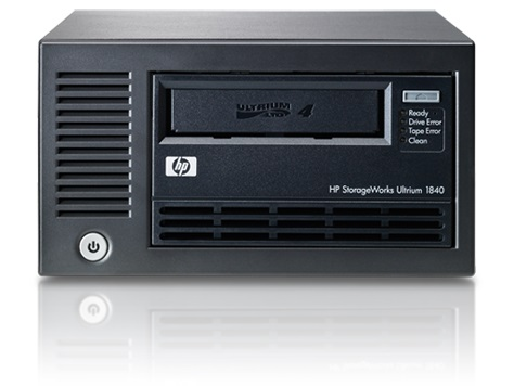 Ultrium 1840 LTO-4 full height LFF external Ultra320 LVD SCSI WW tape drive - 1.6TB compressed capacity 864GB/hr compressed transfer rates Linear Tape File System (LTFS) and AES 256-bit hardware encryption (Option EH854B)