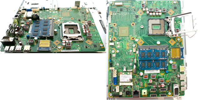 System board (motherboard) - With Intel H61 Chipset - Includes replacement thermal material (Ike)