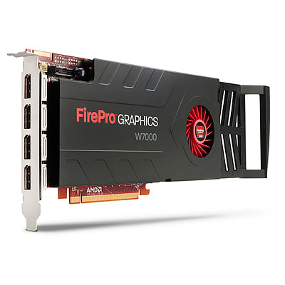 AMD FirePro W7000 PCIe x16 : 4GB GDDR5 memory graphics card - With four standard DisplayPort connections