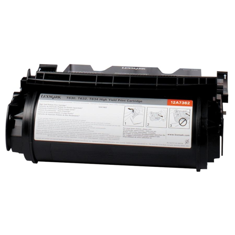 Black - original - toner cartridge - for Lexmark T630 T632 T634 T634dtn-32 X630 X632 X634