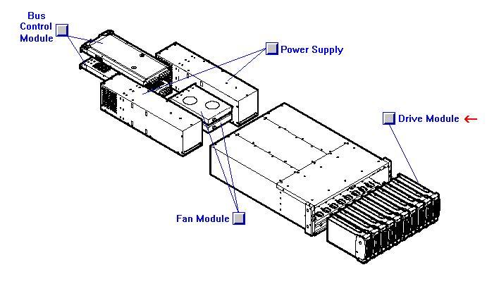 18.2GB 'hot swap' Ultra160 SCSI hard drive module - 15000 RPM low profile