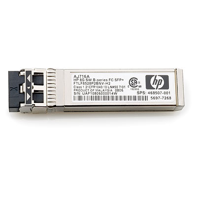 B-Series 8Gb SFP+ LC SW Transceiver - Small Form-factor Pluggable Plus (SFP+) 8-Gigabit Short Wave transceiver with 850nm laser that provides 8Gb connectivity up to 150m (492ft) on OM3 multimode fiber - Has one LC 8-Gb port