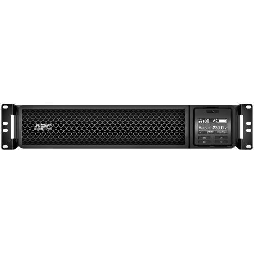 Smart-UPS SRT 2200VA RM - UPS (rack-mountable / external) - AC 220/230/240 V - 1980 Watt - 2200 VA lead acid - RS-232 USB - output connectors: 10 - 2U - black - with APC UPS Network Management Card