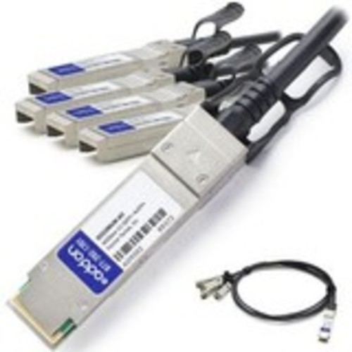 40GBase-CU direct attach cable - TAA Compliant - SFP+ (P) to QSFP+ (P) - 16.4 ft - passive