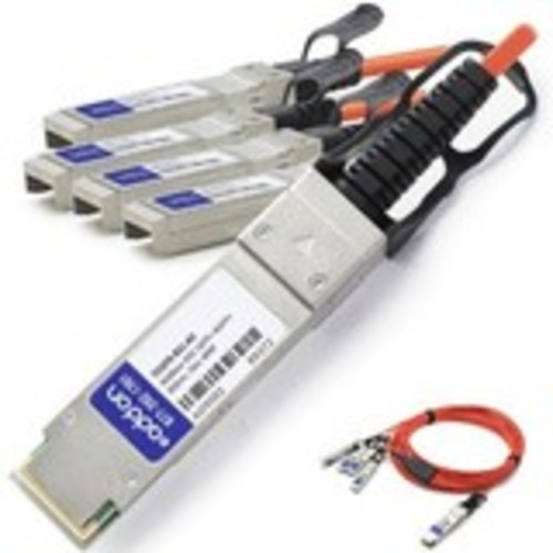 40GBase-AOC direct attach cable - QSFP+ to SFP+ - 15 m - fiber optic - active - TAA Compliant - for HPE Apollo 4200 Qumulo Archive Node 4200 Qumulo Node