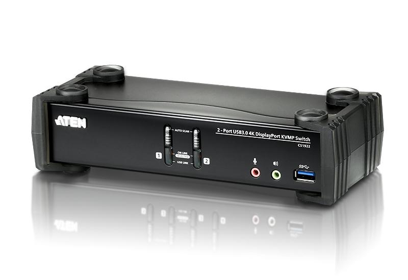 2Port USB3.0 4K DisplayPort KVMP Switch Support up to 4096x2160 at 60Hz Retail