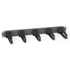 1U HORIZONTAL 19IN IT RACKMOUNT CABLE MANAGER SINGLE-SIDED BLACK