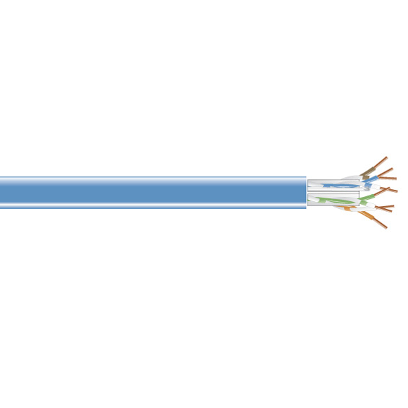 Box CAT5e Value Line Solid Cable CM 1000-ft. (304.8-m)  Blue - Category 5e for Network Device - 1000 ft - Bare Wire - Bare Wire - Blue