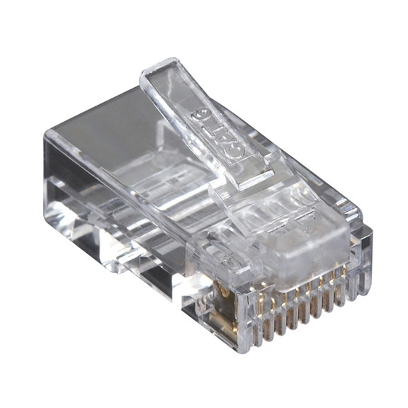 Box CAT6 Value Line Modular Plug Unshielded 100-Pak - 100 Pack - 1 x RJ-45 Male - Gold-plated Contacts