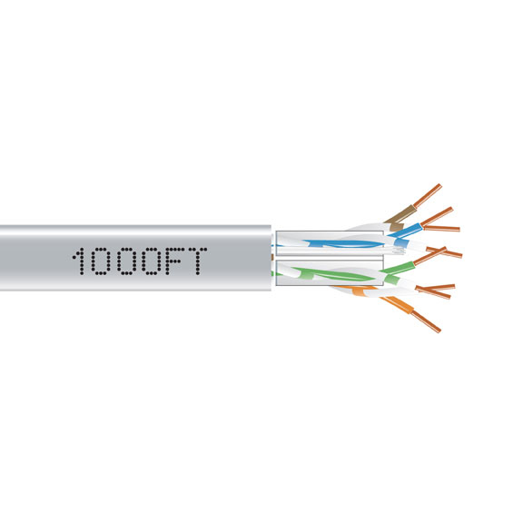 1000FT CAT6A 650MHZ SOLID CABLE UTP CMP GRAY