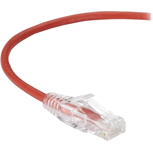 SLIM-NET CAT6 PATCH CABLE RED 12FT