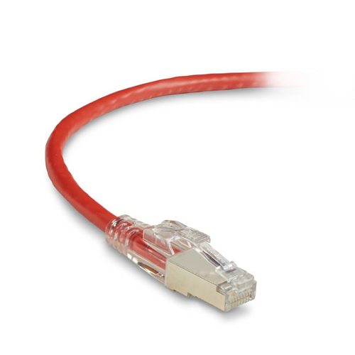 3FT RED CAT6 250MHZ PATCH CABLE F/UTP CM LOCKING SNAGLESS