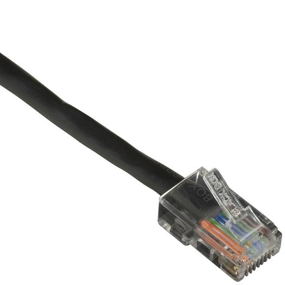 1FT BK CAT5E 100MHZ ETHERNET PA TCH CABLE UTP PVC