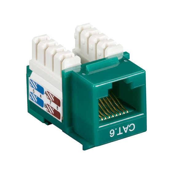 Box CAT6 Value Line Keystone Jack Green 10-Pack - 10 Pack - 1 x RJ-45 Female - Gold-plated Contacts - Green