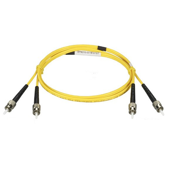 1M (3.2FT) LCLC YL OS2 SM FIBER PATCH CABLE INDR ZIP OFNR