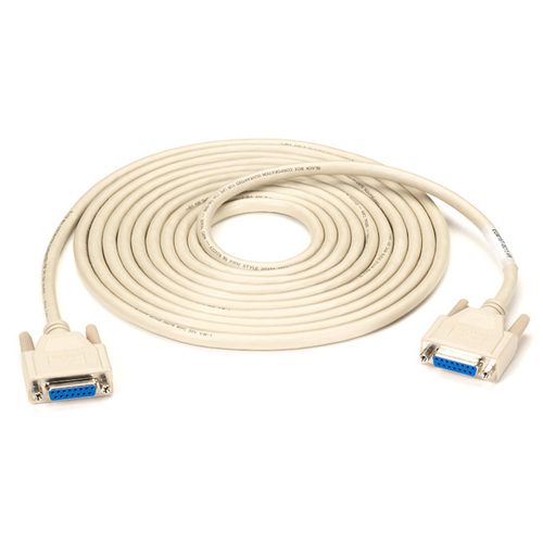 DB15 MOLDED SHIELDED DATA CABLE F/F 20FT. WITH THUMBSCREWS