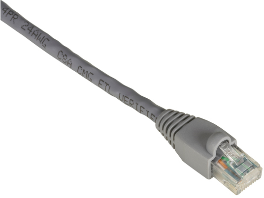 6FT GRAY CAT6 550MHZ PATCH CABL E UTP CM SNAGLESS