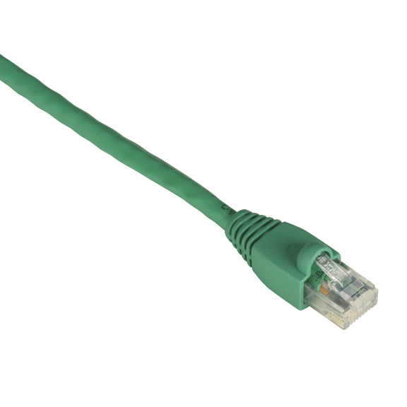 1FT GREEN CAT6 550MHZ PATCH CAB LE UTP CM SNAGLESS