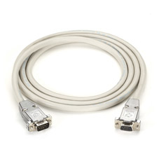 RS232 SHIELDED NULL MODEM CABLE with METAL HOODS DB9M/F 6FT.