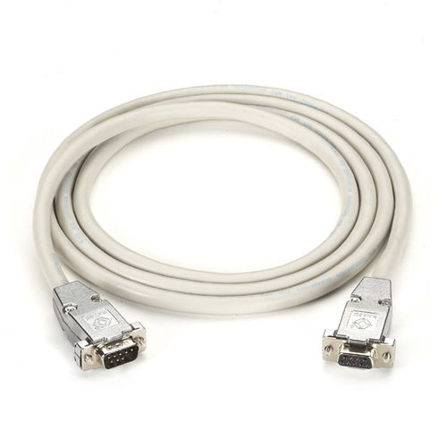 6-FT RS232 SHIELDED NULL MODEM CABLE METAL HOOD DB9 MALE/MALE