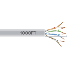 1000-FT GRAY CAT5E SOLID C ABLE 350MHZ UTP CMP