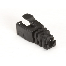 50-PACK SNAP-ON SNAGLESS CABLE BOOT BLACK