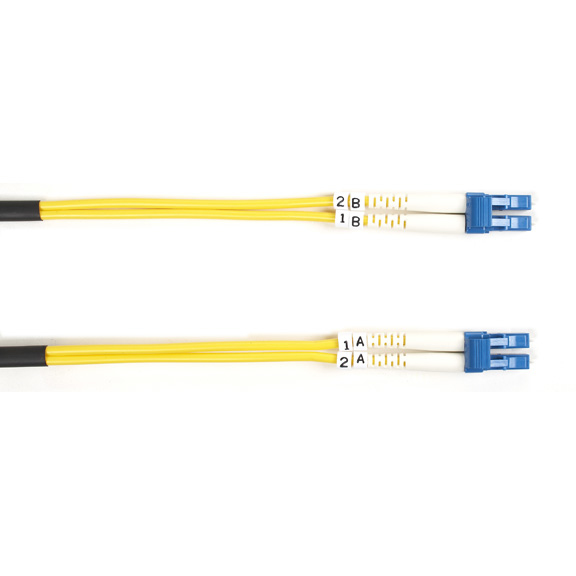 30M (98.4FT) LCLC YL OS2 SM FIB ER PATCH CABLE INDR ZIP OFNR