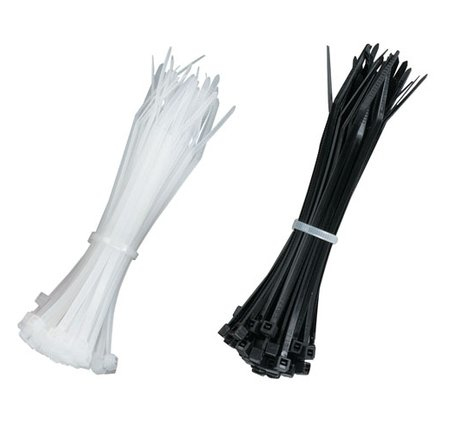 100-PACK BLACK/NATURAL 1/8INW X 4INL CABLE ZIP TIES