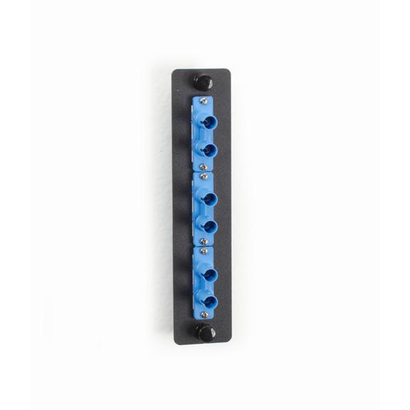 FIBER ADAPTER PANEL LOW DENSITY (3) ST DUPLEX CERAMIC BLUE