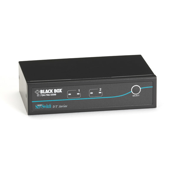 Box ServSwitch DT DVI 2-Port with Emulated USB Keyboard/Mouse - 2 Computer(s) - 1 Local User(s) - 1920 x 1200 - 6 x USB - 3 x DVI - Desktop