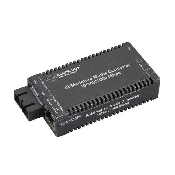 Box Industrial MultiPower Miniature Media Converter - 1 x Network (RJ-45) - 1 x SC Ports - No - 10/100/1000Base-T - Rail-mountable