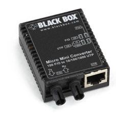 MICRO MINI MEDIA CONVERTER SM 10/100/1000 COPPER TO 100 DPLXFIBER