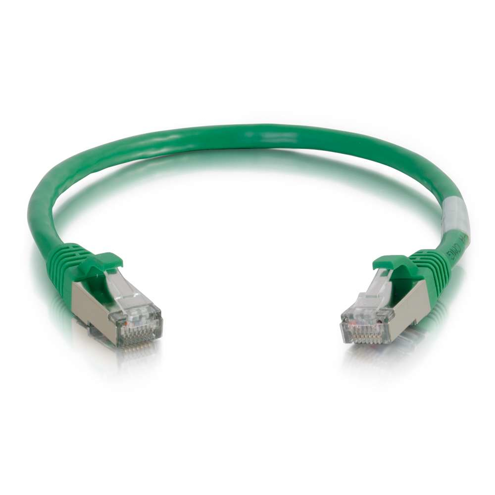 8ft Cat6 Snagless Shielded (STP) Ethernet Network Patch Cable - Green - Patch cable - RJ-45 (M) to RJ-45 (M) - 8 ft - screened shielded twisted pair (SSTP) - CAT 6 - molded snagless stranded - green