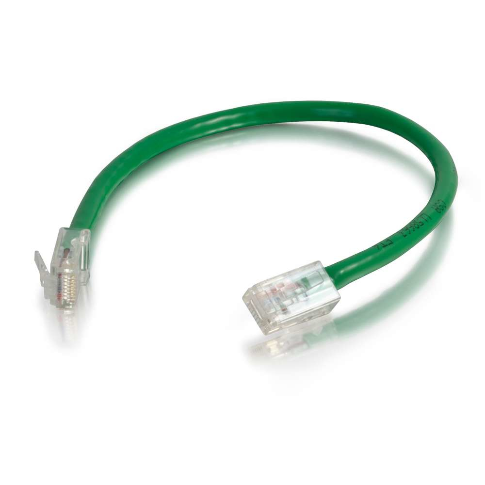 6in Cat6 Non-Booted Unshielded (UTP) Network Patch Cable - Green - Slim Category 6 for Network Device - RJ-45 Male - RJ-45 Male - 6in - Green