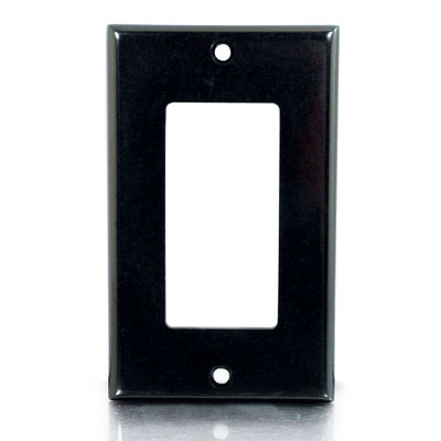Decorative Single Gang - Mounting plate - black