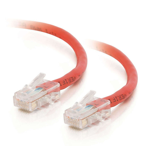 30ft Cat6 Non-Booted Unshielded (UTP) Ethernet Network Patch Cable - Red - Patch cable - RJ-45 (M) to RJ-45 (M) - 30 ft - UTP - CAT 6 - red