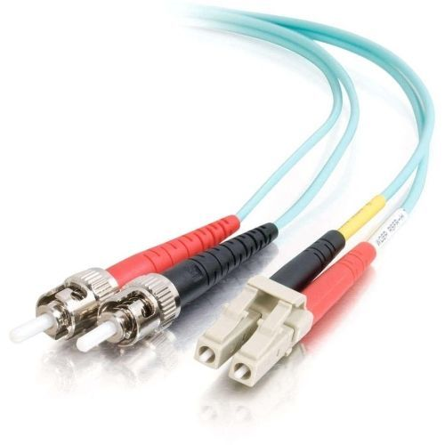 2m LC-ST 10Gb 50/125 OM3 Duplex Multimode Fiber Optic Cable (TAA Compliant) - Aqua - Patch cable - LC multi-mode (M) to ST multi-mode (M) - 2 m - fiber optic - 50 / 125 micron - OM3 - aqua - TAA Compliant