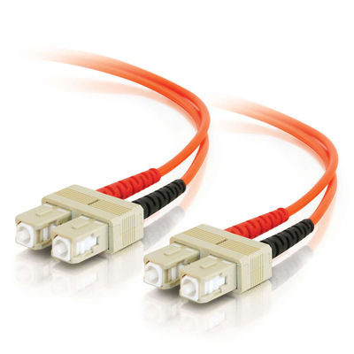 SC-SC 62.5/125 OM1 Duplex Multimode Fiber Optic Cable (TAA Compliant) - Patch cable - SC multi-mode (M) to SC multi-mode (M) - 5 m - fiber optic - 62.5 / 125 micron - OM1 - orange - TAA Compliant