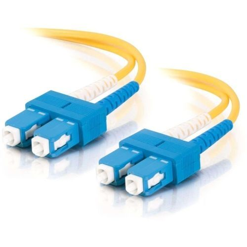 5m SC-SC 9/125 Duplex Single Mode OS2 Fiber Cable TAA - Yellow - 16ft - Patch cable - SC single-mode (M) to SC single-mode (M) - 5 m - fiber optic - 9 / 125 micron - OS1 - yellow - TAA Compliant