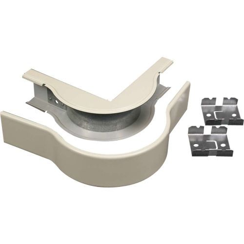 Wiremold 2400 Radiused External Elbow Fitting - Cable raceway elbow fitting - ivory