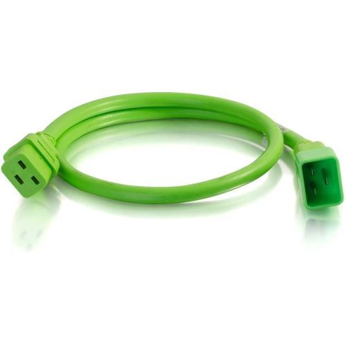 5ft 12AWG Power Cord (IEC320C20 to IEC320C19) - Green - Power cable - IEC 60320 C20 to IEC 60320 C19 - 250 V - 20 A - 5 ft - green