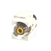 Snap-In Yellow RCA F/F Keystone Insert Module - White - RCA