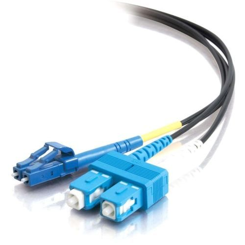 5m LC-SC 9/125 OS1 Duplex Single-Mode PVC Fiber Optic Cable - Black - Patch cable - LC single-mode (M) to SC single-mode (M) - 16.4 ft - fiber optic - 9 / 125 micron - OS1 - black