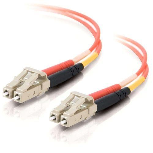 LC-LC 62.5/125 OM1 Duplex Multimode PVC Fiber Optic Cable (LSZH) - Patch cable - LC multi-mode (M) to LC multi-mode (M) - 8 m - fiber optic - 62.5 / 125 micron - OM1 - orange